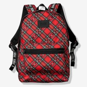 VS Pink CAMPUS BACKPACK Red Plaid NWT